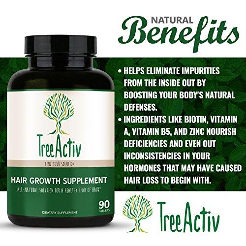 TreeActiv Hair Growth Supplement | Biotin Natural Herbal ...