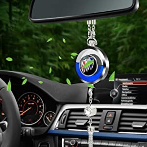 Goshion Auto Car Refresh Smell Air Freshener Perfume Scent Pendant Bottle Distribute Fragrance, Remove Odor Car Rearview Mirror Charm Decor with Gift Box, fit Buic k