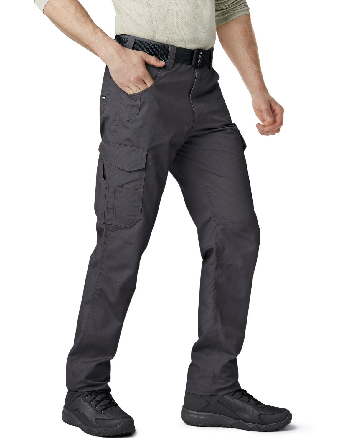 CQR CQ-TWP302-CHC_32W/34L Men's Operator Rip-Stop Tactical Work Utility Pants EDC TWP302