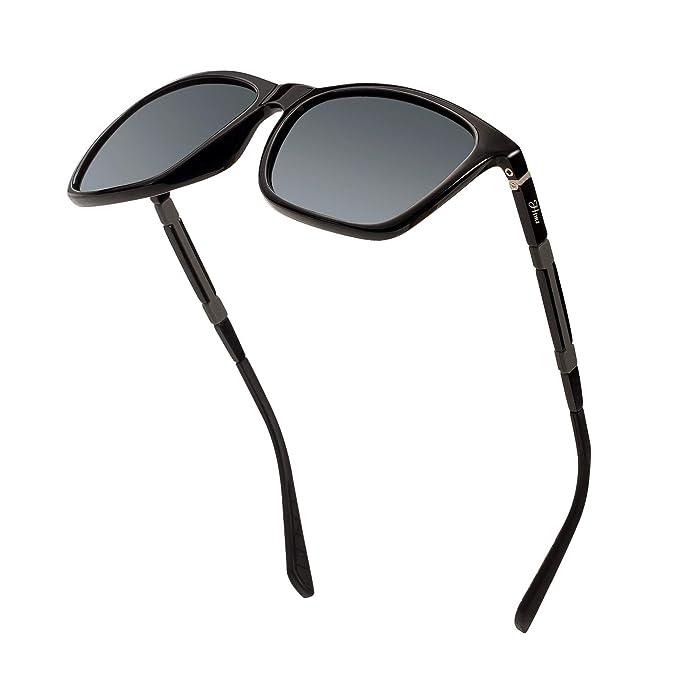 9c8c81ce53eb Men s Polarized Driving Sunglasses Retro Square Aluminum magnesium Alloy  Temple Sun Glasses Unbreakable Spring Hinges Eyewear