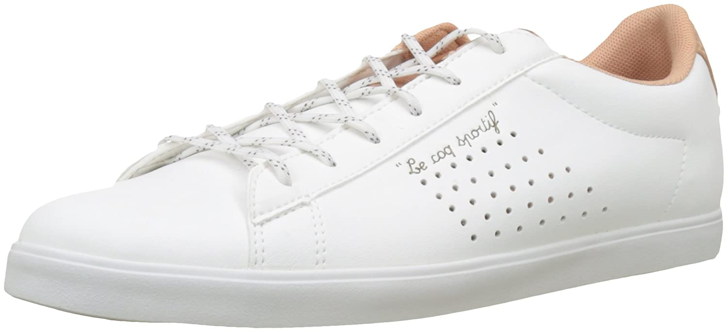 bad04296b250 Le Coq Sportif Women s Agate Sport Optical White Dusty Coral Trainers