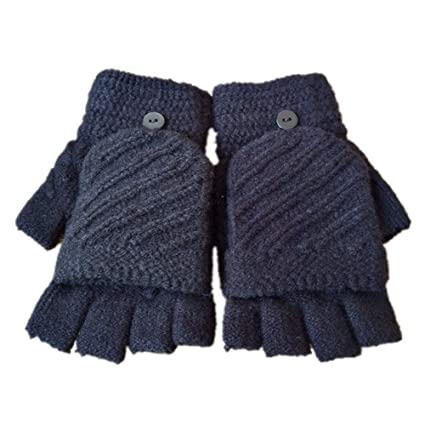 Amazoncom Teensery 1 Pair Winter Gloves Solid Color Hand Crochet