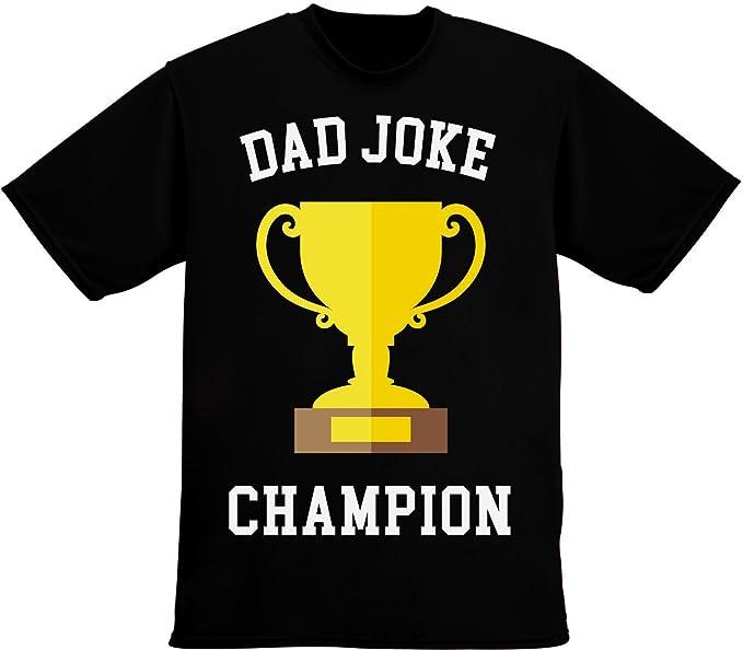 ccf025d17 Dad Joke Champion Funny Sarcastic Trophy for Dad Jokes Men's T-Shirt Small