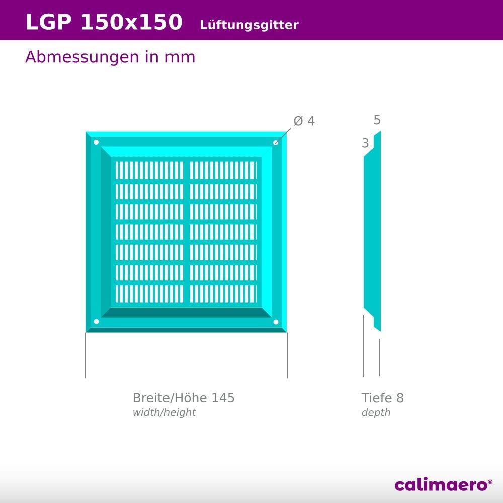 calimaero LGP 150 x 150 mm Rejilla de Protecci/ón Contra el Clima Rejas Fijas Pl/ástico