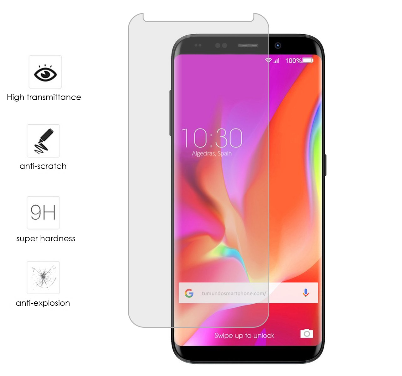 Tumundosmartphone Protector Cristal Templado para BLUBOO S8 Plus ...