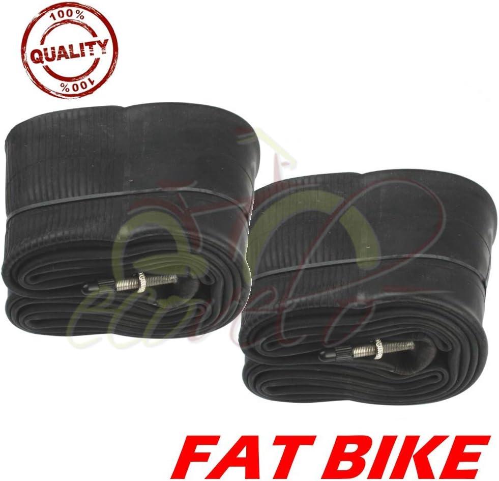 Union ECA26FYD - Juego de 2 cámaras de aire de 26 x 4.0 para Fat Bike con válvula Presta de 48 mm para neumáticos de bicicleta MTB: Amazon.es: Deportes y aire libre