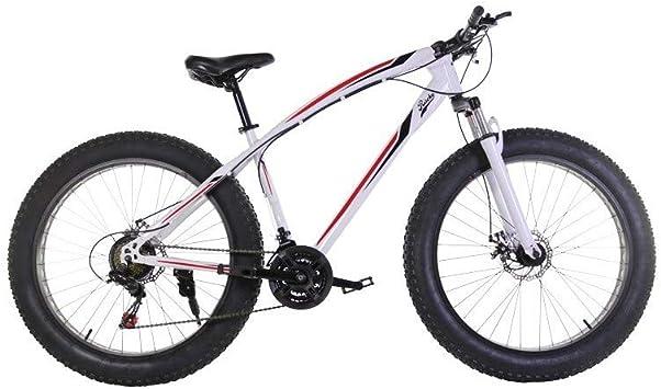 Riscko Bicicleta Fat Bike Todoterreno con Ruedas de 26x4 Pulgadas antipinchazos y Cambio Shimano Color Rosa Flúor: Amazon.es: Deportes y aire libre