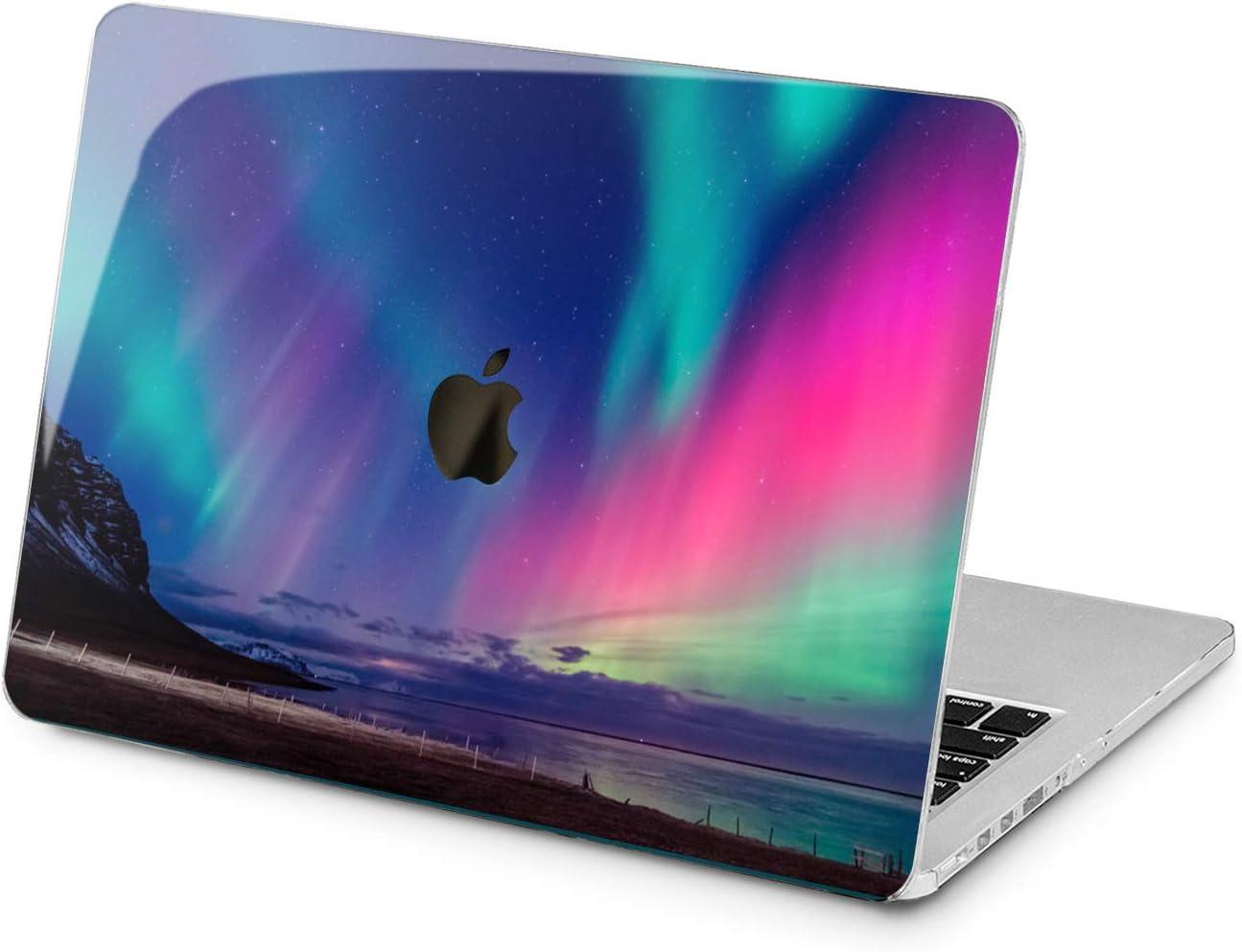"Cavka Hard Shell Case for Apple MacBook Pro 13"" 2019 15"" 2018 Air 13"" 2020 Retina 2015 Mac 11"" Mac 12"" Lights Design Night Protective Aurora Borealis Laptop Print Sky Cover Northern Plastic Natural"