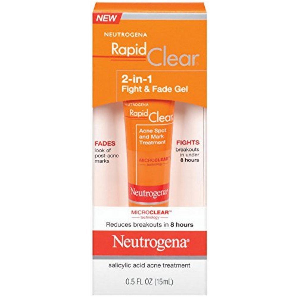 Amazon neutrogena rapid clear 2 in 1 fight and fade gel 05 amazon neutrogena rapid clear 2 in 1 fight and fade gel 05 fluid ounce facial spot treatments beauty ccuart Gallery