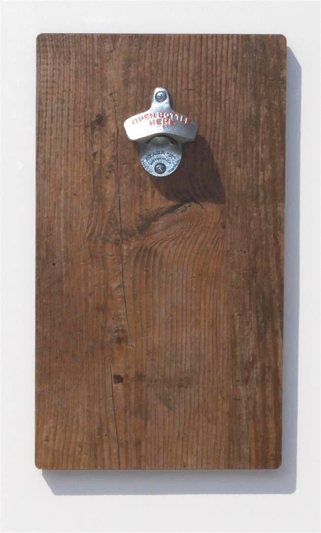 FLUX-Wandflaschenöffner in in in Holz-Optik  Cognac  mit Magnet-Falle B00JJN75DY Flaschenffner bc6d27