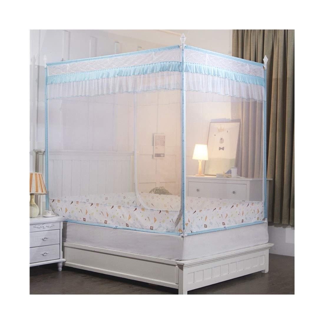 方朝日スポーツ用品店 蚊帳大きなスペースベッドを戻すトップジップを戻すにはベッド1.8 * 2.2mは寝室に適して (色 : 青, サイズ : 180*200CM) B07SLHV69H 青 180*200CM