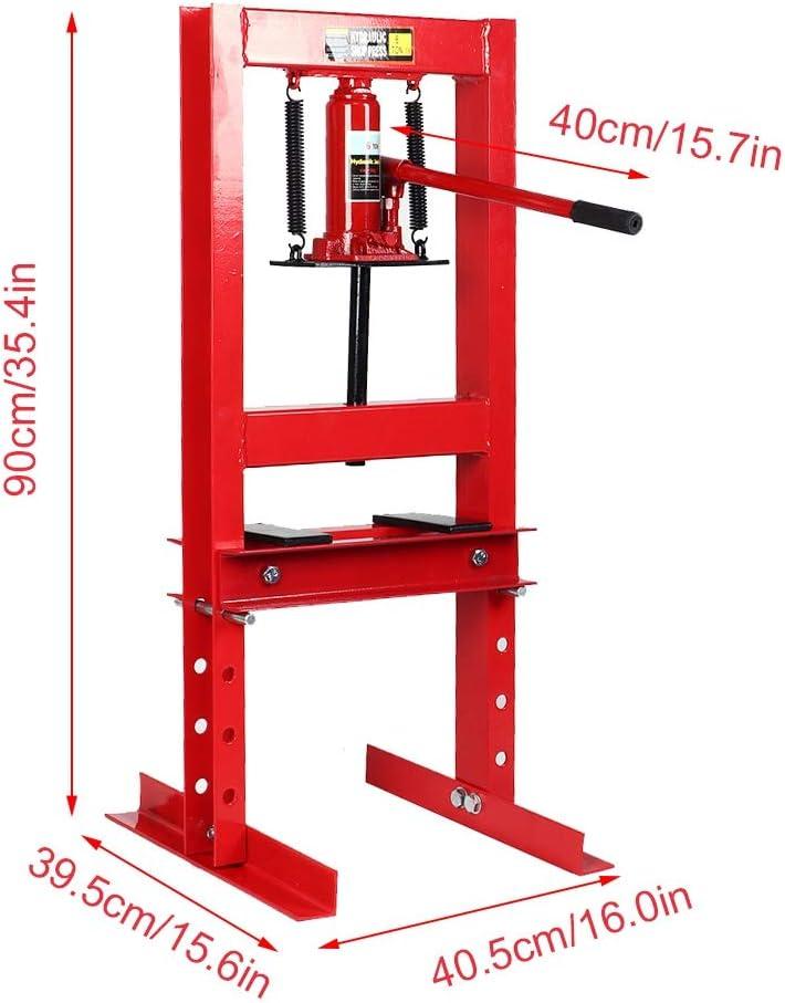 Pressa Idraulica Pressa per Officina da 6 T Pressa da banco Piegatrice Idraulica Manuale per Officina