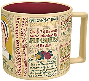 Jane Austen Coffee Mug - Austen's Most Famous Quotes and Depictions - Comes in a Fun Gift Box