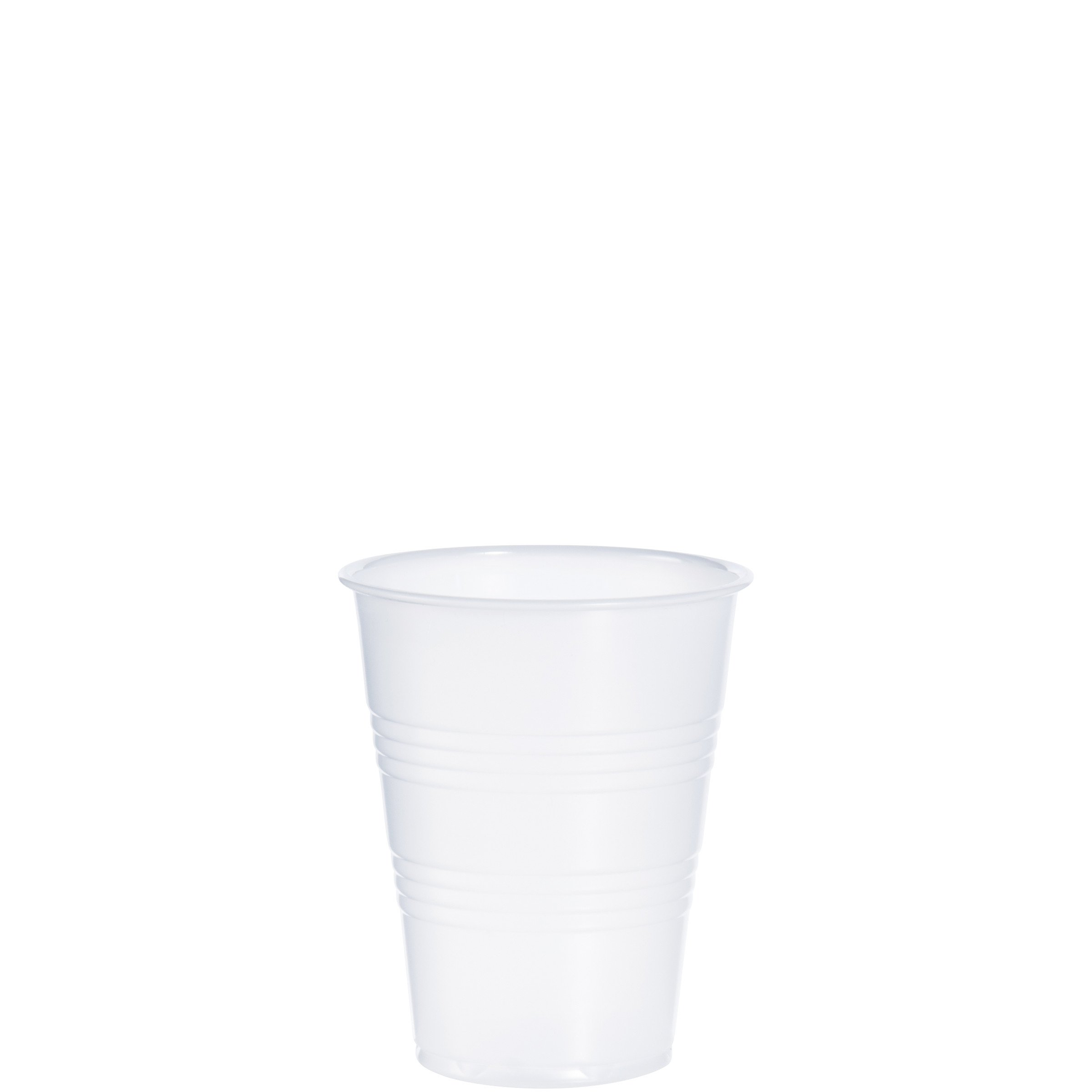 Dart Y9 9 oz Trans Ribbed Wall PS Cup (Case of 2500)
