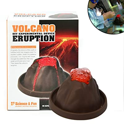1 Juego Educativo Kit Erupción Del Volcán Experimentos De Ciencia Explosión Del Kit DIY Juguetes Del Desarrollo Del Tallo Gran Kit De La Ciencia De Regalos Para Niños Y Niñas: Juguetes y juegos