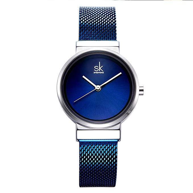 Amazon.com: SK Women Watch Fashion Analog Ladies Watches on Sale Mesh Female Watches for Women (K0083-Blue): Watches