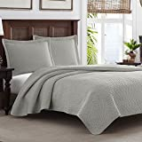 Stylish & Lightweight Reversible Bedspread Quilt Set of 3 - Pelican Gray Color, King Size
