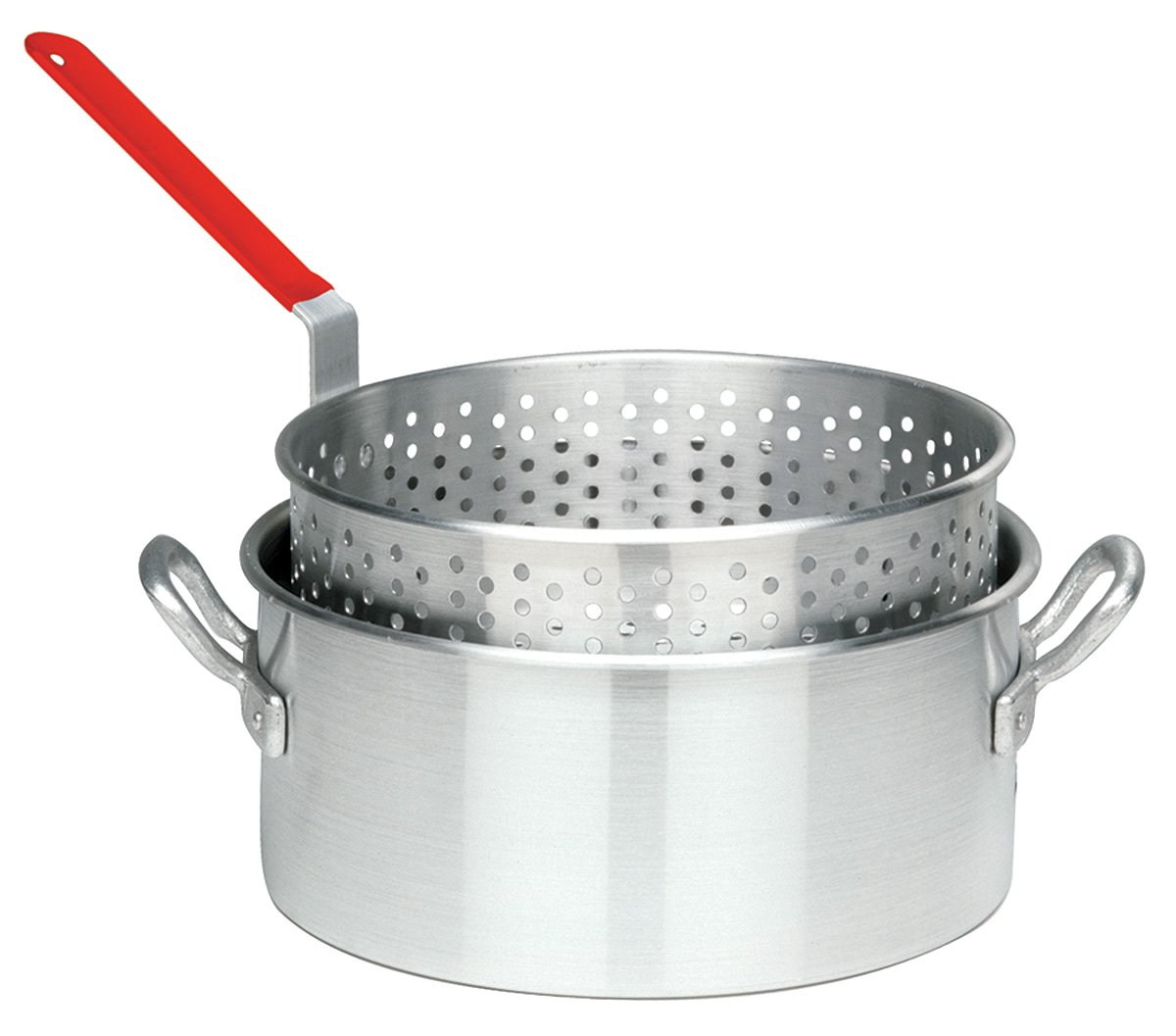 Bayou Classic 10 Quart Aluminum Fry Pot and Basket with Cool Touch Handle by Bayou Classic