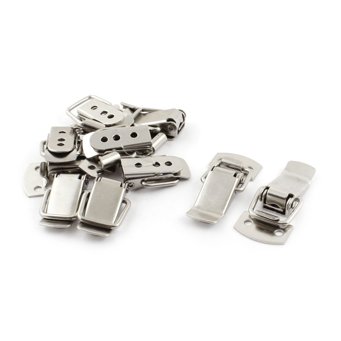 10-Piece Uxcell a14081300ux0021 30mm Home Cabinet Security Stainless Steel Toggle Latch Catch