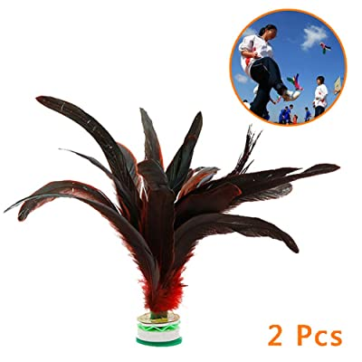 Kick Shuttlecock, Colorful Feather Chinese Jianzi Sport Foot Kicking Shuttlecock for Outdoor Sports Fitness Kids, Adults, Teens: Garden & Outdoor [5Bkhe0302520]