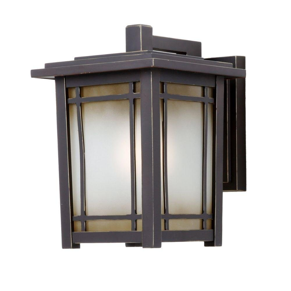 Home Decorators Collection Port Oxford 1-light Oil Rubbed Chestnut Outdoor Wall Mount Lantern