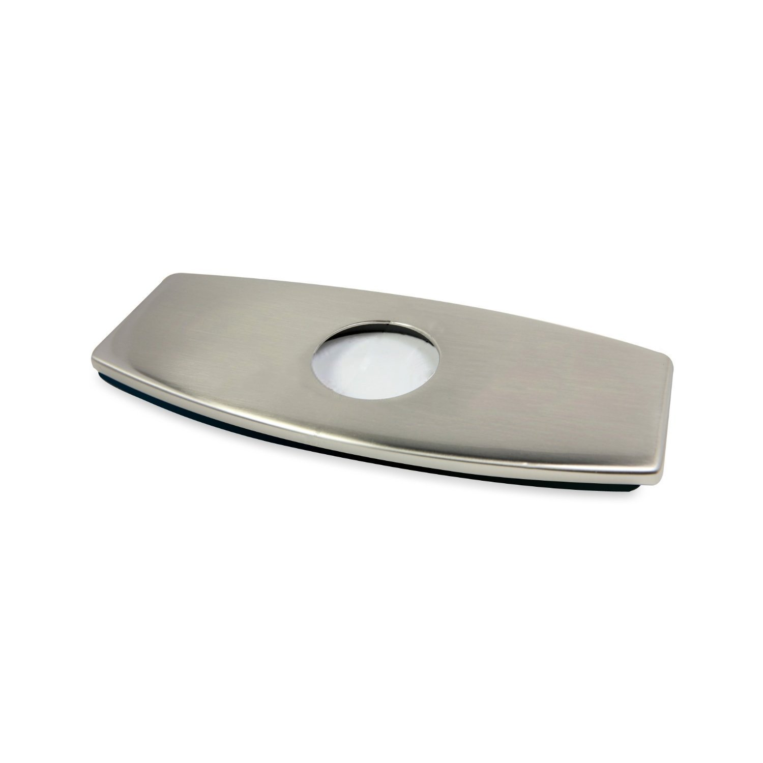 KINGO HOME Stainless Steel Bathroom Vessel Sink Faucet Deck Plate Hole Cover Escutcheon, Brushed Nickel