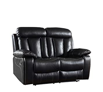 Amazon.com: Blackjack Furniture Loveseat Leather Match Den ...