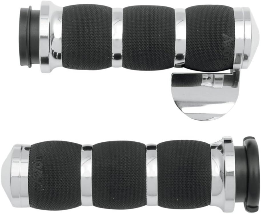 Air Cushioned Grips Spike Chrome Avon AIR-90-CH-FL-SP For 08-20 HD w//FlyByWire
