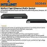 Intellinet 16Port PoE+ Fast Ethernet Rackmount Switch (560849) by Intellinet