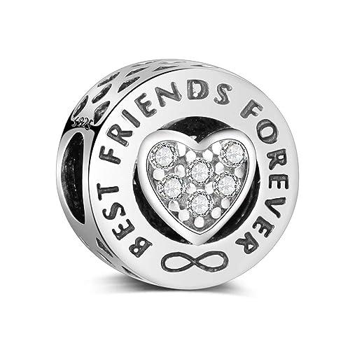 cc531f893102 Abalorio de plata de ley 925, compatible con pulseras y collares Pandora y  todos los europeos de Best Friends Forever