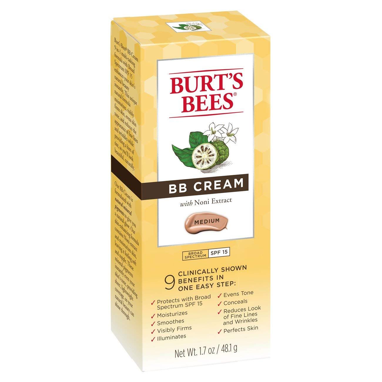 Burts Bees Bb Cream SPF 15 - Mediana - Base de 4,45 g: Amazon.es: Belleza