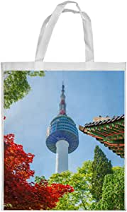 Chinese Landmarks Printed Shopping bag, Small Size
