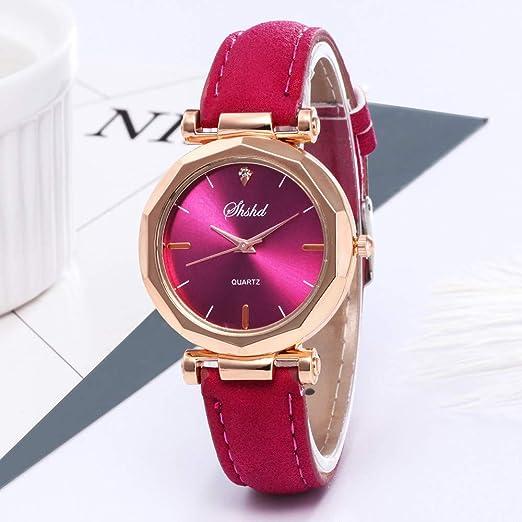 San Valentín. Beisoug Mejor Moda Mujer Cuero Reloj Casual ...