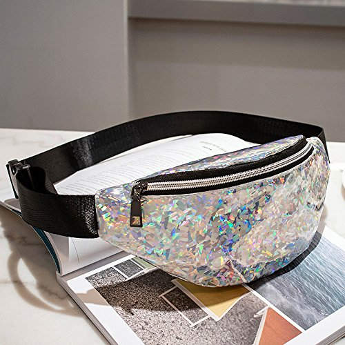 Holographic Fanny Women Girls Pack 80s Cute Fashion Fanny Packs Shiny Waist Pack Bum Bag by Bookear (Image #1)