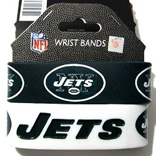 Aminco International NFL-BC-207-11 Silicone Rubber Bracelet - New York Jets from aminco
