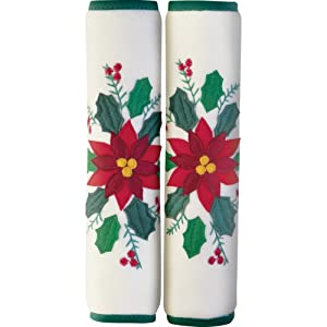 Poinsettia Appliance Handle Covers - Set of 3