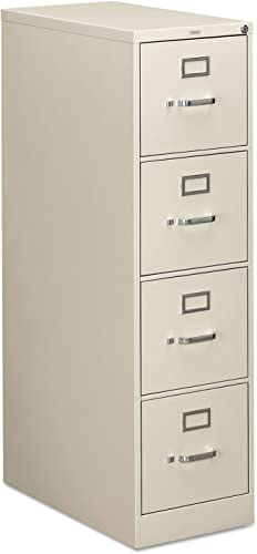 HON 310 Series Four-Drawer Letter Size Vertical File, 26-1 2d, Light Gray