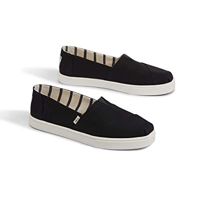 TOMS Womens Black Heritage Canvas Cupsole 10013515 (Size: ...