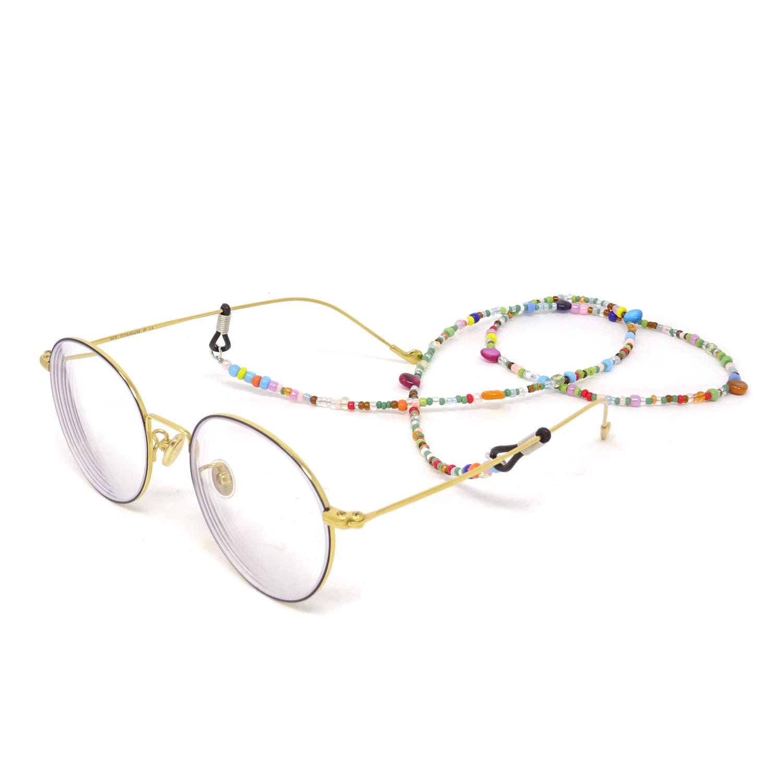 Honbay 2PCS Colorful Beaded Eyeglass Chain Sunglass Cord Eyewear Lanyard