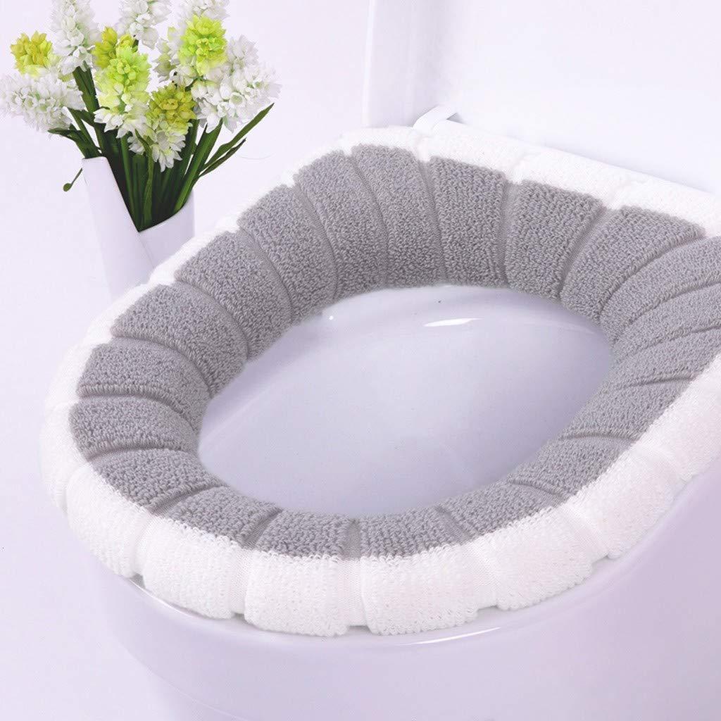 Universale Anello di Fissaggio Panpany 1 Pezzi Coprisedile per WC,Spessa e Morbida Copriwater in Tessuto Lavabile in Lavatrice