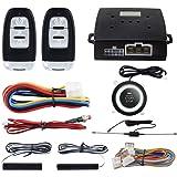 EASYGUARD PKE Passive Keyless Entry Car Alarm System Push Button Start Remote Start Starter DC12V EC003-1