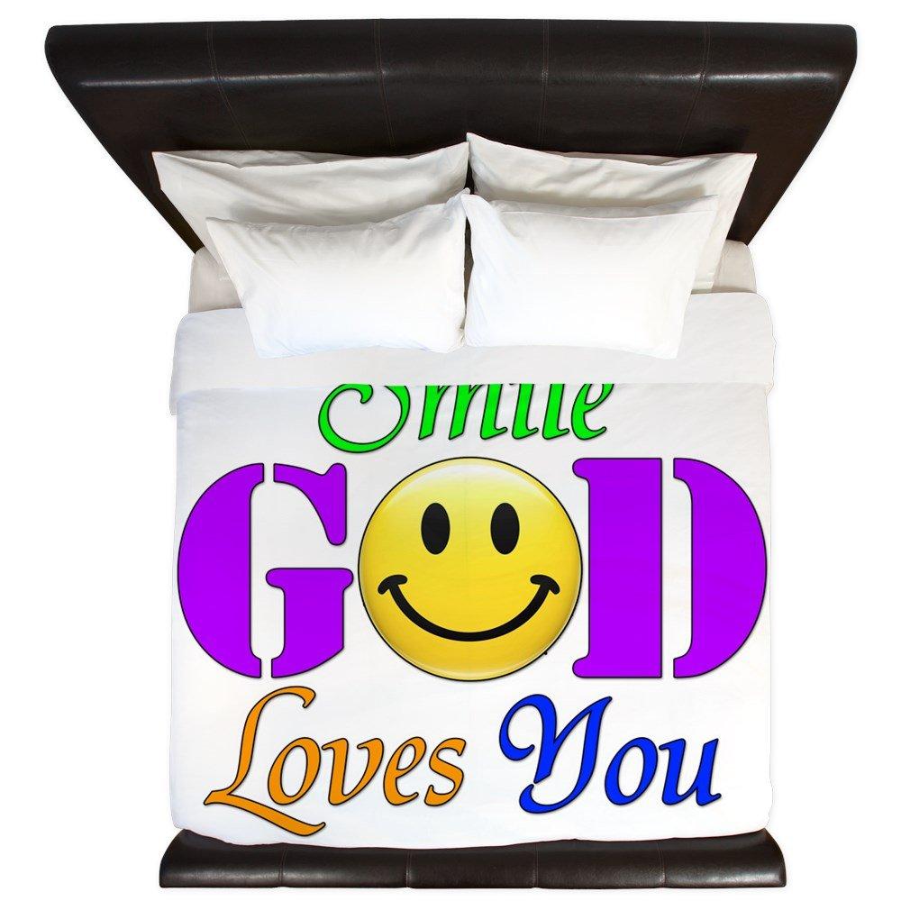 King Duvet Cover Smile God Loves You