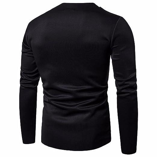 Zarupeng Herren Herbst Spezielle Kragenart und Weise Shirt Langarm  Einfarbig Pullover Hemd  Amazon.de  Bekleidung 9a140a373d