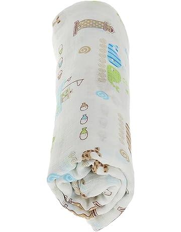 1pcs Plazas Abrazos Colección Impreso Manta Muselina De Algodón Manta De Bebé Recién Nacido Baño Envolver