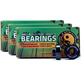 Shiver ABEC 9 Skateboard Bearings with Built-In Spacers and Speed Rings | High Performance Skateboard Parts with Grease used