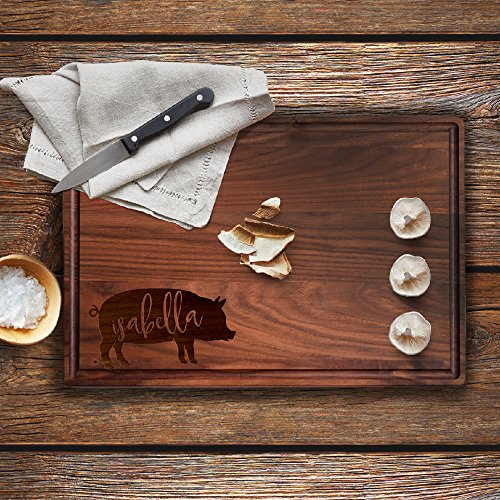 Lily's Atelier Custom Engraved Cutting Board - Wedding, Anniversary, Housewarming, Birthday, Corporate Gift and for Awards - Customizable Name - (Customizable Gifts)