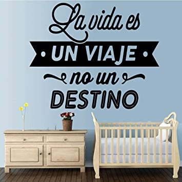 Colore Espagnol Lettre Home Decorations Pvc Decal Nursery