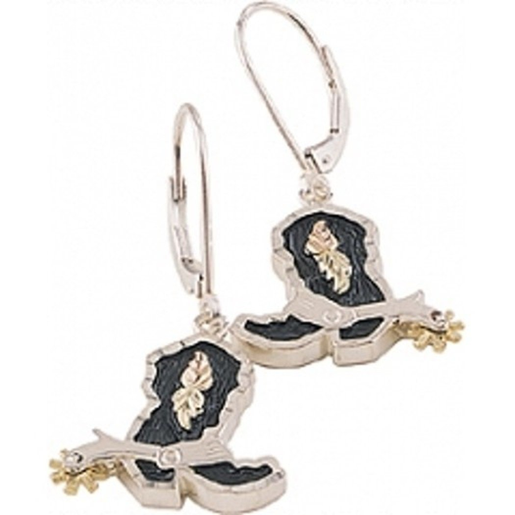 Black Hills Silver Western Boot Earrings