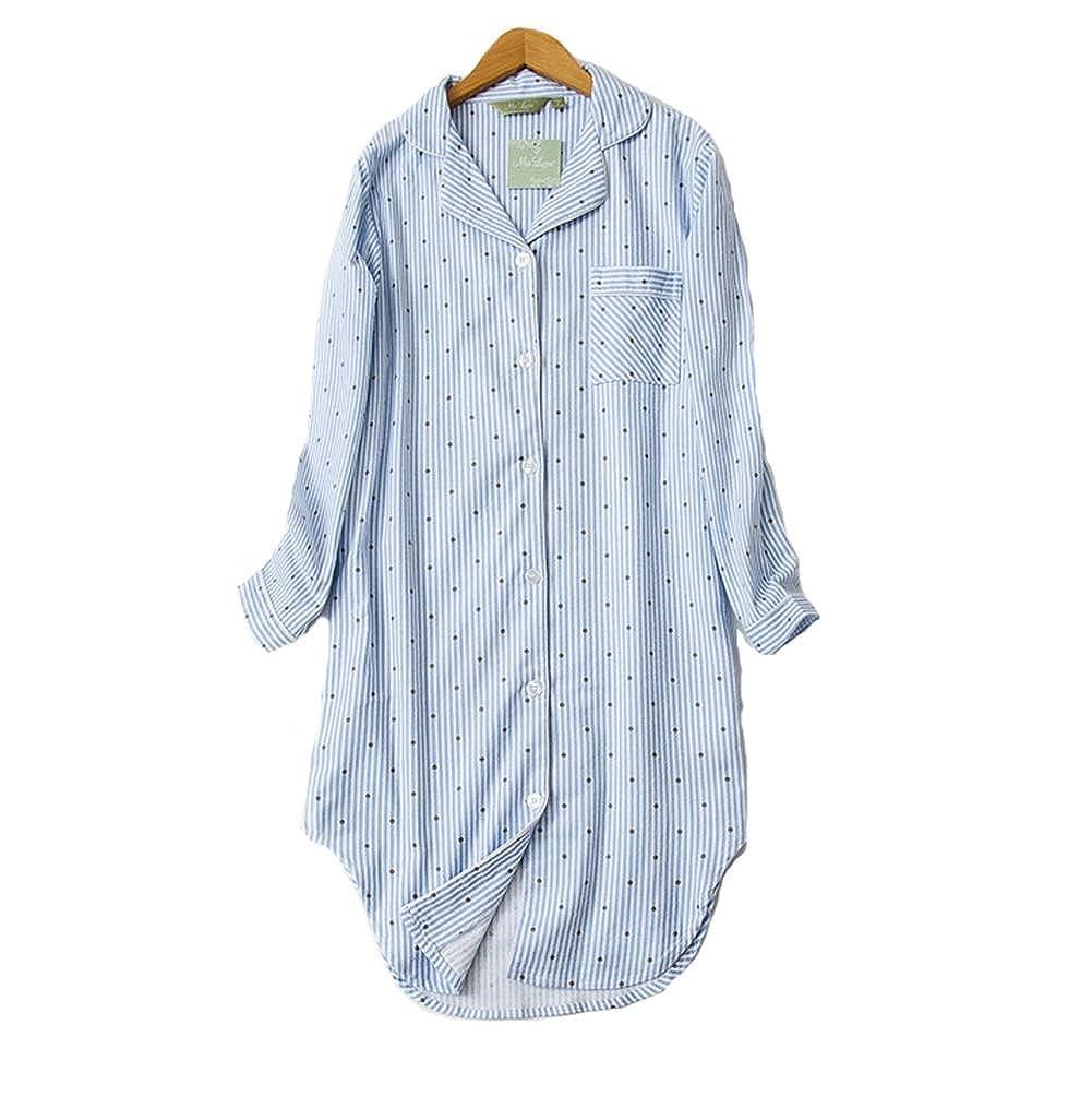 Pijama Mujer Algodon Invierno Manga Larga Ropa De Dormir Tallas Grandes Camison Botones Pijamas Ropa De Dormir Pijamas