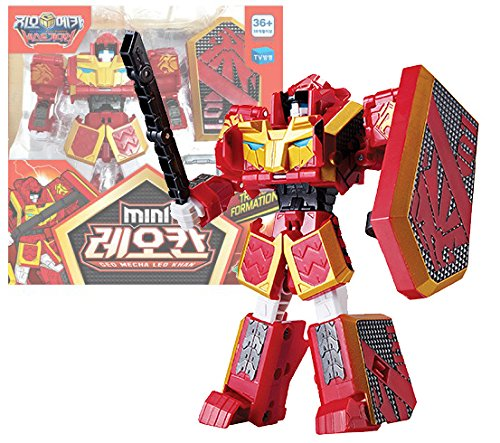 Geo Mecha Beast Guardian Mini Leo Khan Transformer Robot Toy Action Figure